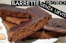 Ricetta barrette proteiche senza zuccheri