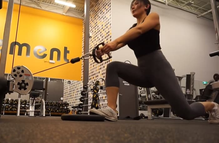 Cable lunges