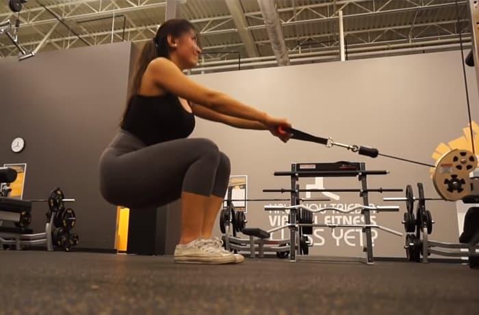 Cable squat close